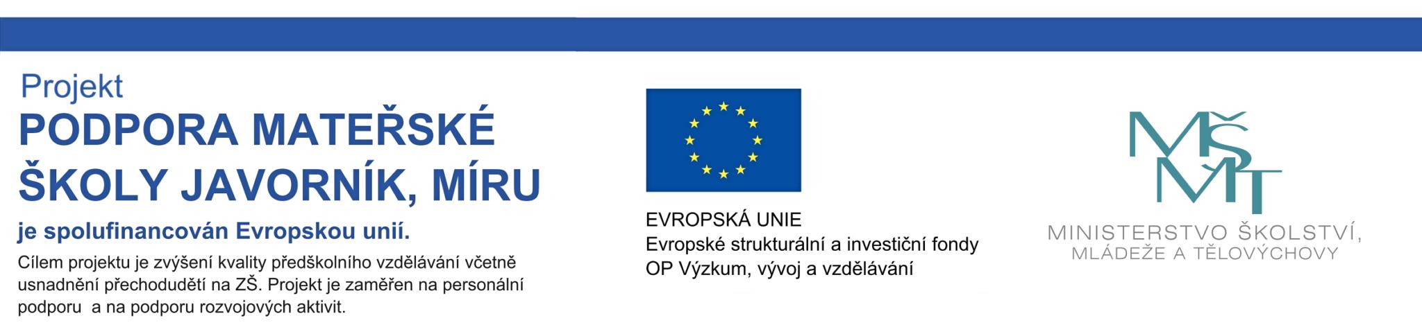 Projekt OPVVV - podpora EU a MŠMT